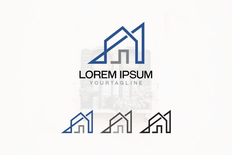 Housing Company Home House Line Art Logo Template example image 1