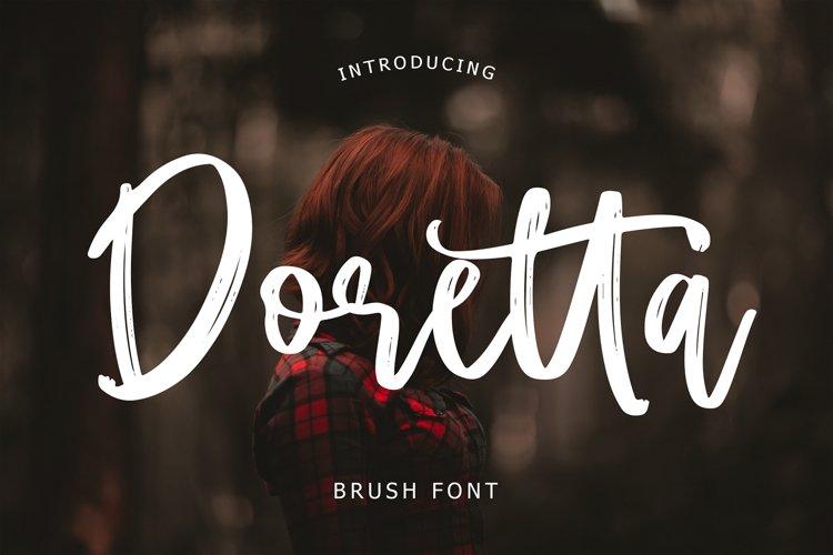 Doretta Brush Script Font example image 1