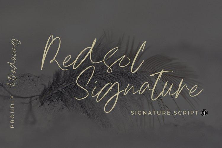 Redsol Signature Font