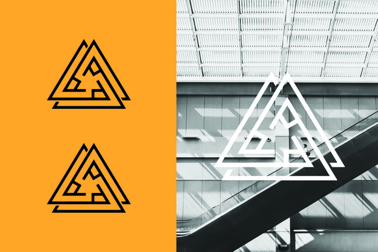 abstract triangle logo example image 1