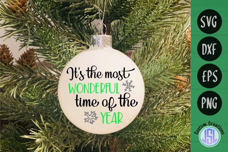 It's the Most Wonderful Time of the Year | SVG DXF EPS PNG example image 1