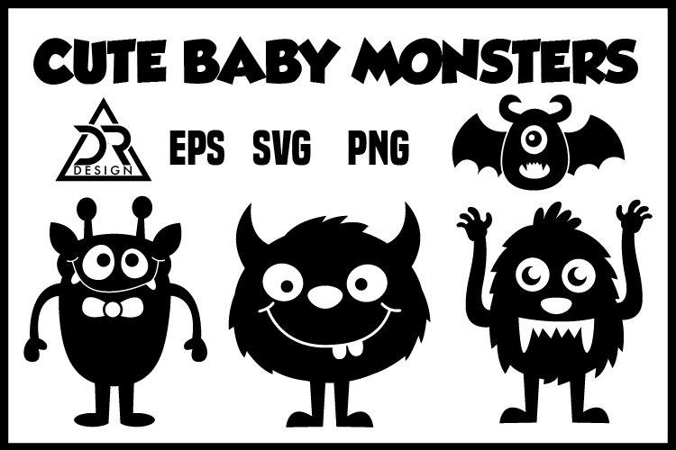 Cute Baby Monsters SVG