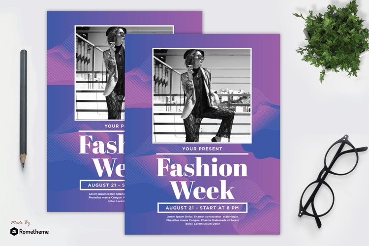 Fashion Week Flyer vol. 01 example image 1