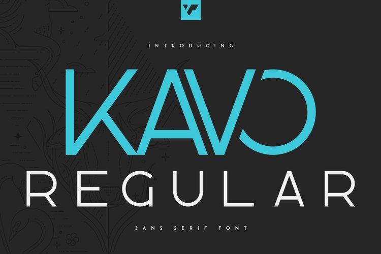 Kavo Sans Serif Regular example image 1