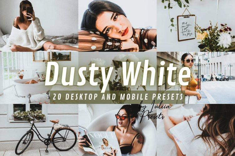 20 DUSTY WHITE Lightroom Presets for Mobile & Desktop apps