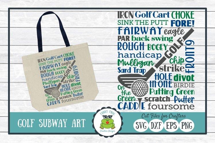 Golf Subway Art SVG Cut File, PNG Printable Wall Art