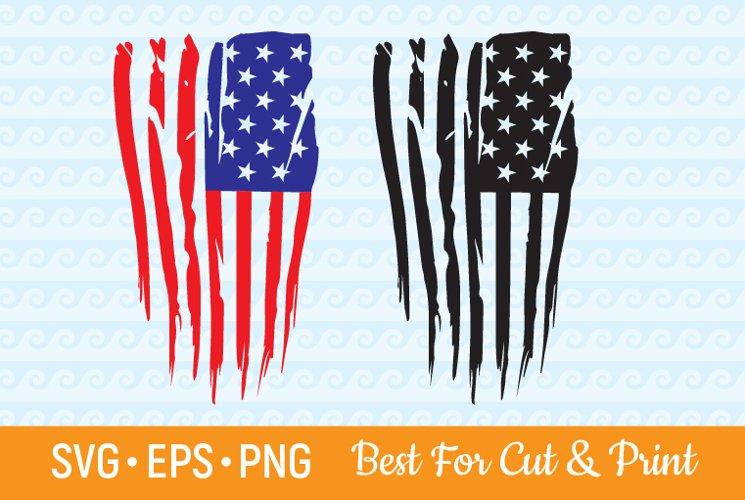 Distressed American flag SVG USA Grunge 4th of July Cricut