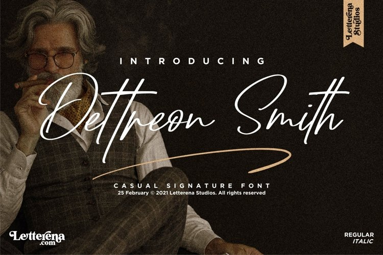 Dettreon Smith - Signature Script Font example image 1