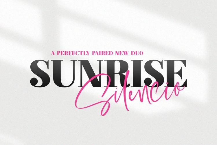 Sunrise Silencio Font Duo example image 1
