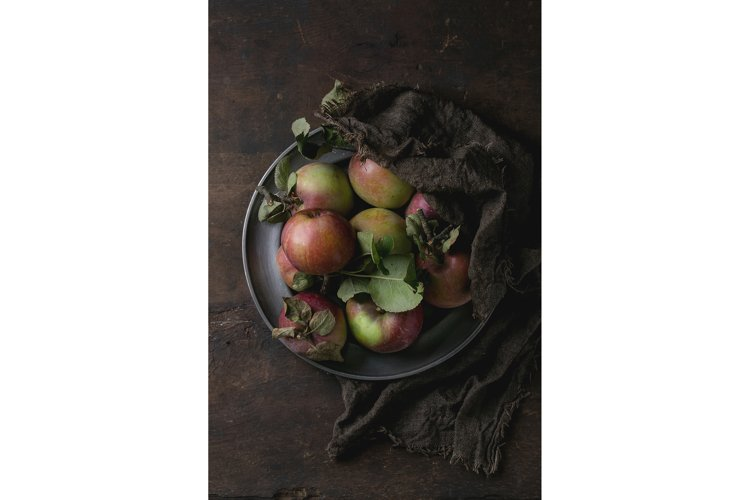 Apples with leaves example image 1