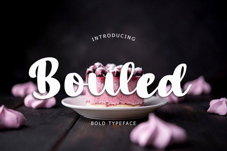 Bouled Bold Font example image 1