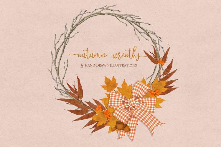 Autumn Wreath Illustrations