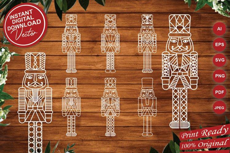 Nutcracker Intricate Paper Cut Design - SVG Cut Files