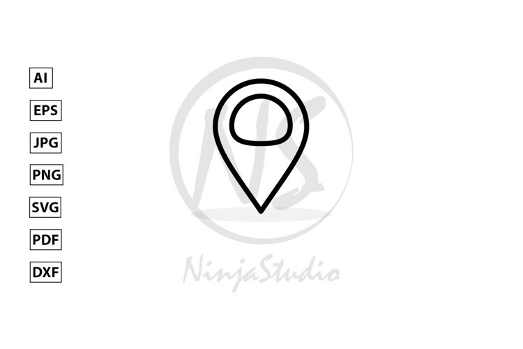 Locator Line Icon In Flat Style Vector example image 1