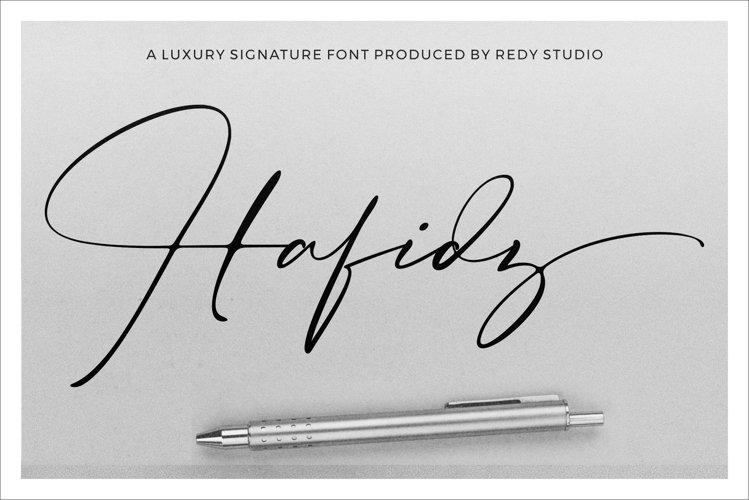 Hafidz   Luxury Signature Font example image 1