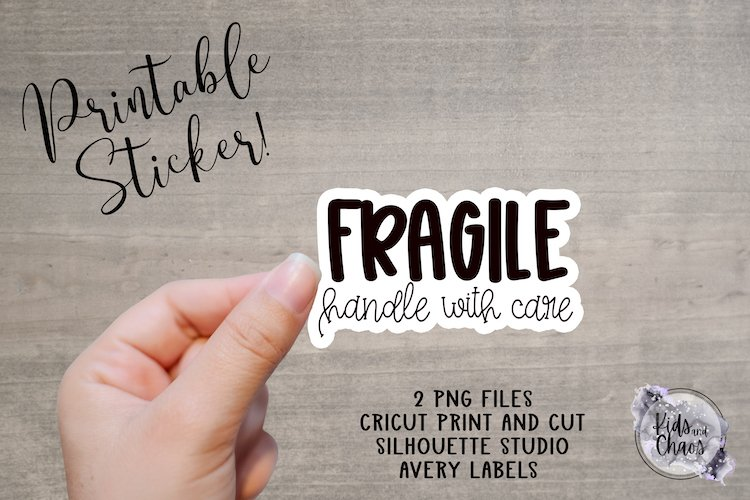 Fragile Handle With Care Printable Sticker