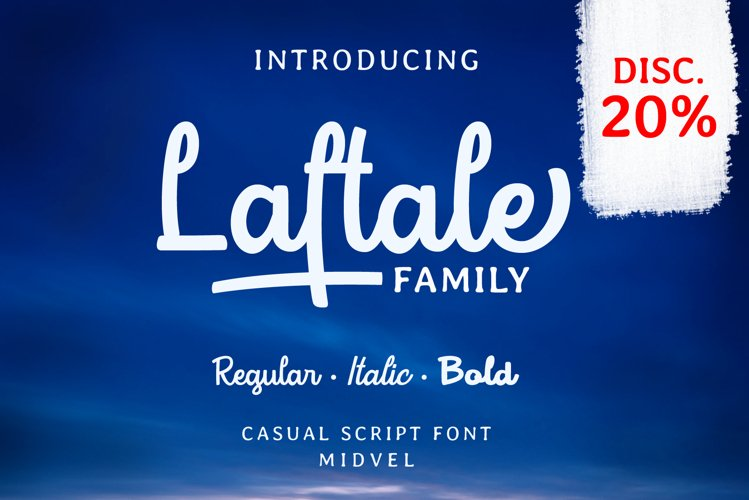 Laftale Family bundles - 3 styles font example image 1