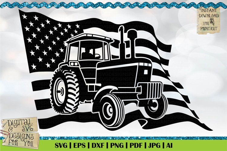 American Farmer Black | Life is better on the Farm | Tractor example image 1