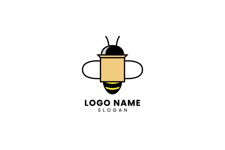 Bee Logo Carries a Package example image 1
