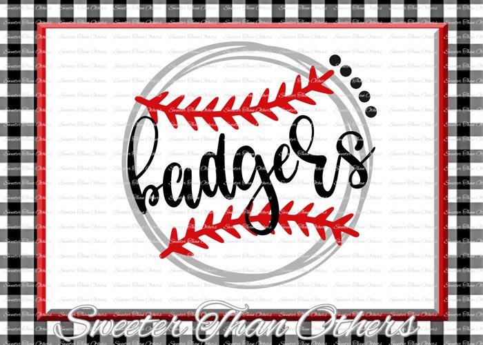 Baseball SVG, Softball Svg, Badgers svg, Badgers Baseball example image 1