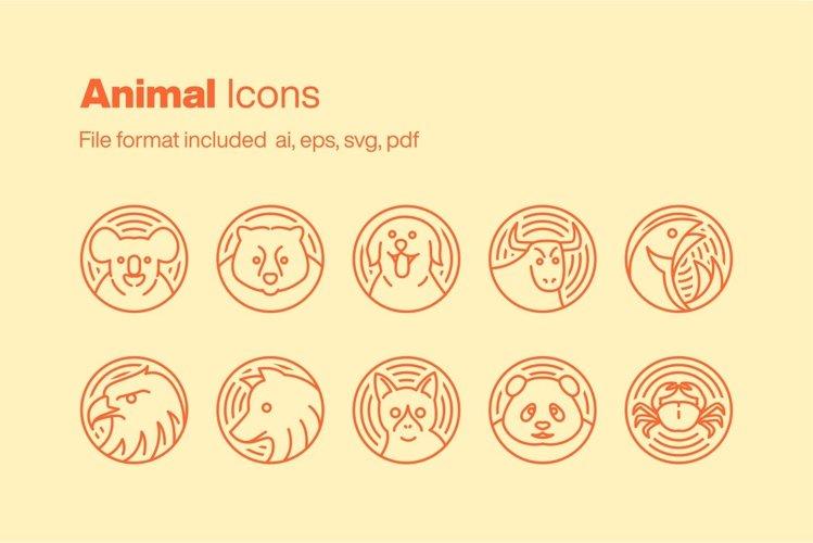 Animal 10 Icons example image 1
