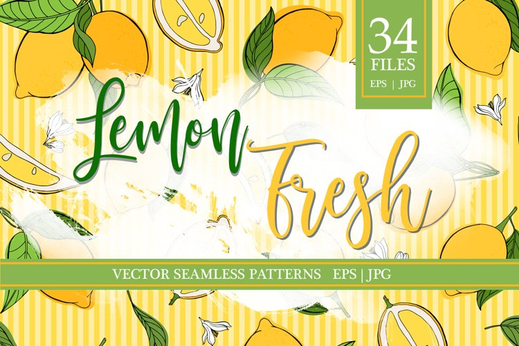 Lemon fresh vector patterns