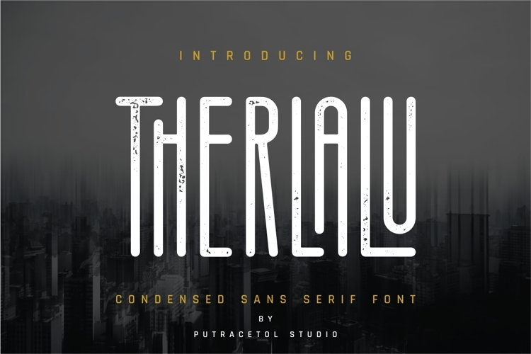 Therlalu - Condensed Sans Serif Font example image 1