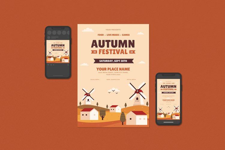 Autumn Festival Flyer example image 1