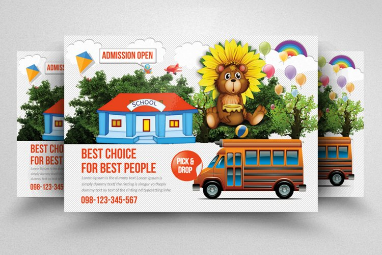 Kids School Admission Open Flyer Template example image 1