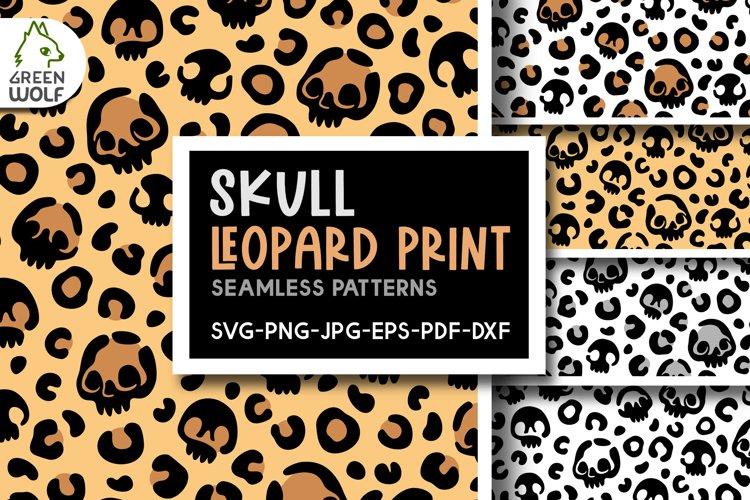 Skull leopard print svg Skull svg Halloween pattern Creepy