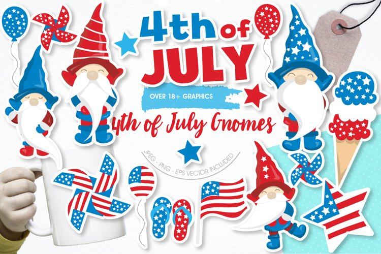 Gnomes 4th of July graphics and illustrations