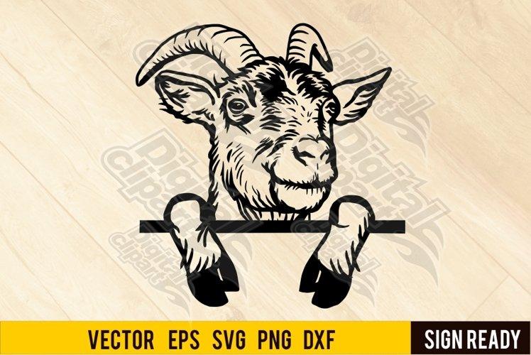Peeking Goat svg, Head Goat, Funny Goat SVG, wall decals