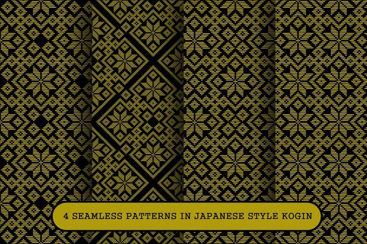 Patterns in Japanese style Kogin.