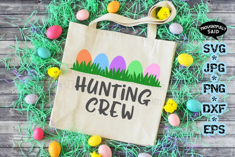 Easter Egg Hunting Crew SVG JPG PNG DXF EPS cutting files example image 1