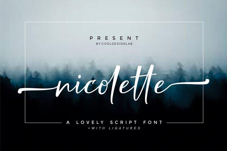 Nicolette Script example image 1
