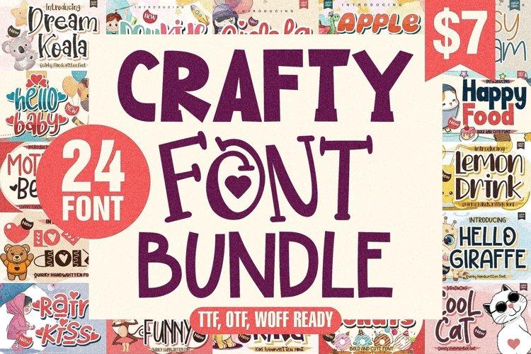 Crafty Font Bundle - 24 Unique Font example image 1
