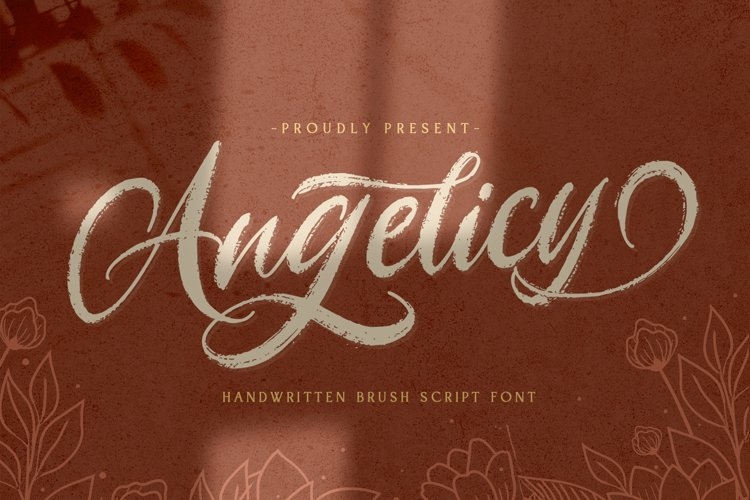 Angelicy - Textured Brush Font example image 1