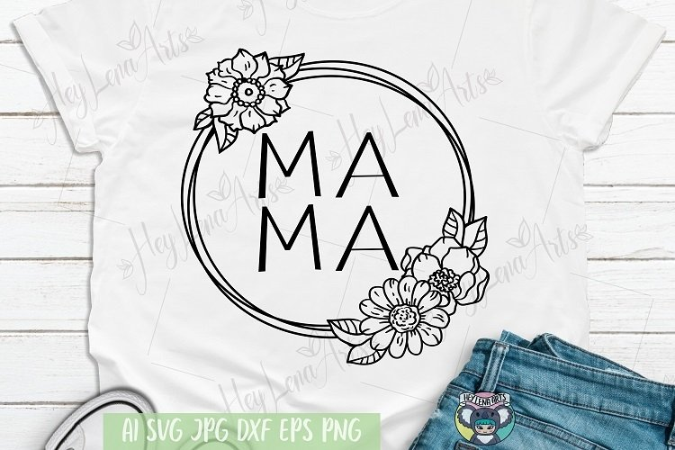 Mother's Day svg, Blessed Mama svg, Girl Mom svg, Boy Mom example image 1
