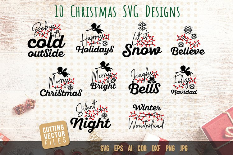 Christmas Quotes SVG Bundle example image 1