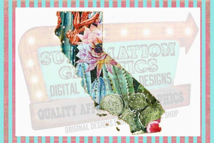 Cactus California Sublimation Digital Download example image 1