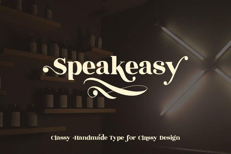 Speakeasy | A Classy Serif example image 1