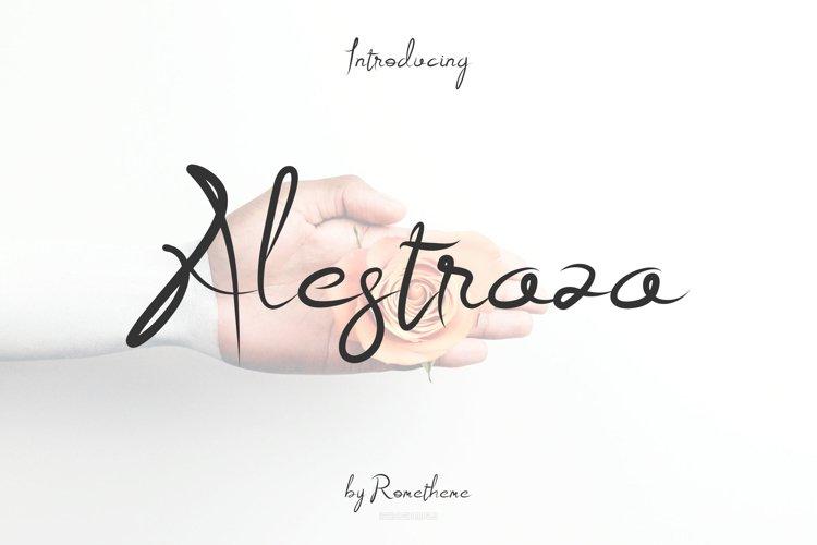 Alestraza Modern Script font example image 1
