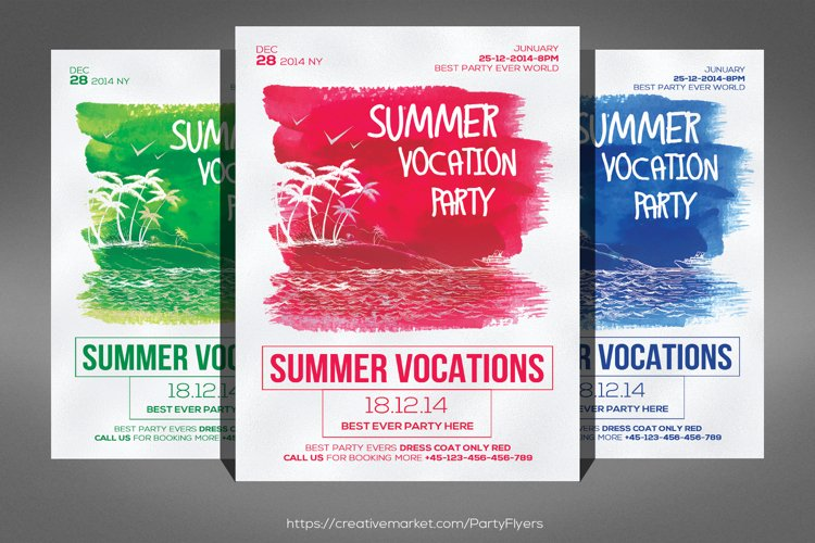 Summer Vocation Party Flyer example image 1
