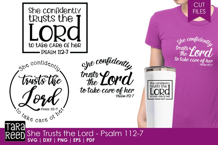 She Trusts the Lord - Psalm 112-7 - Bible Verse Files