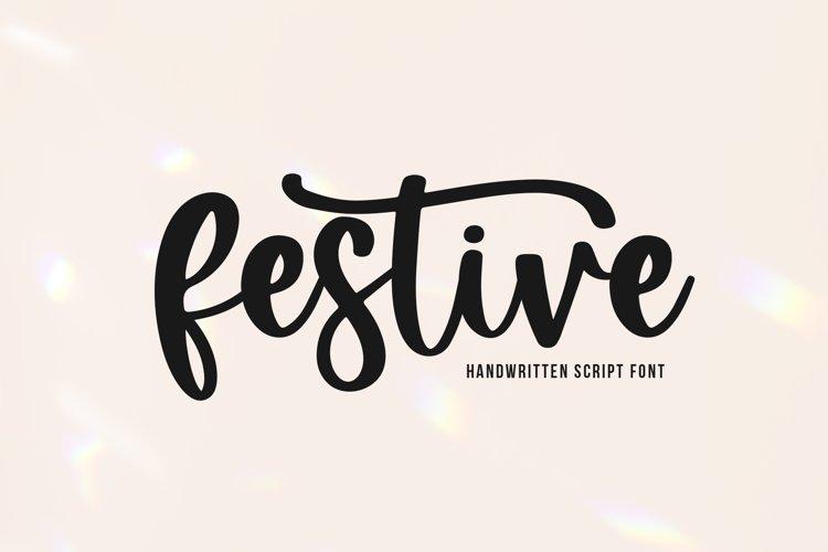Festive - Handwritten Script Font example image 1