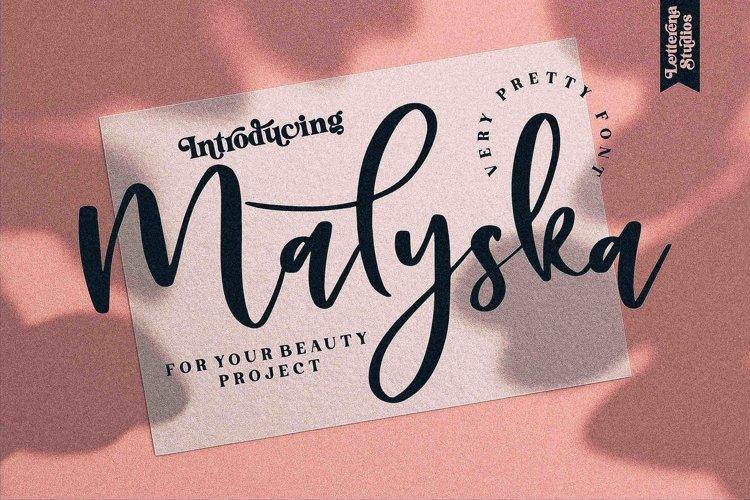 Malyska - Very Pretty Font example image 1