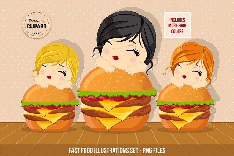 Fast food graphics, Food illustrations example image 1