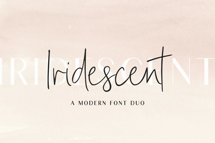 Iridescent | A Modern Font Duo example image 1