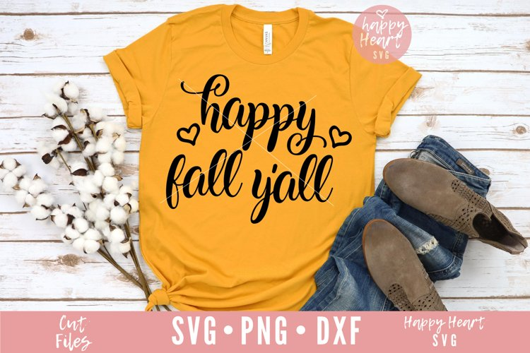 Happy Fall Y'All SVG example image 1
