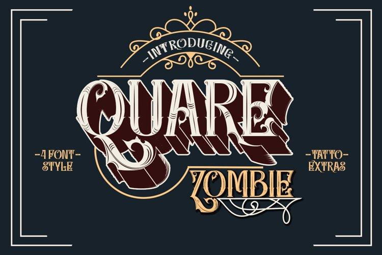 Quare Zombie - 4 font plus extras example image 1
